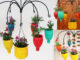 Recycle Plastic Bottles To Make Colorful Flower Pots For A Beautiful Balcony