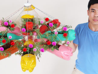 Recycled Plastic Bottles Make Beautiful Flower Pots For Balconies And Small Spaces (4)1
