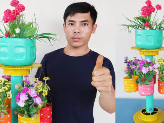 The Idea Of Recycling Plastic Bottles Into Beautiful Flower Pots For Beginner Gardeners