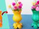 Great flower pot ideas, DIY flower pots made from waste plastic bottles (1)