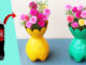 Recycling Plastic Bottles Make Beautiful Colorful Flower Pots