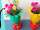 Great With Flower-Shaped Flower Pots Made From Recycled Plastic Bottles