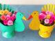 Beautiful Flower Pot Ideas, Swan-Shaped Flower Pots From Recycled Plastic Bottles