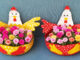 Idea Of Recycling Plastic Containers To Make A Beautiful Chicken Flower Pot For A Small Garden (1)