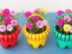 Recycle Plastic Bottles To Make Beautiful Flower Baskets To Grow Portulaca (Moss Rose)