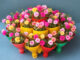 Recycling Ideas Plastic Bottles Gardening Flowers 3 Storey Pyramid Beautiful Colorful