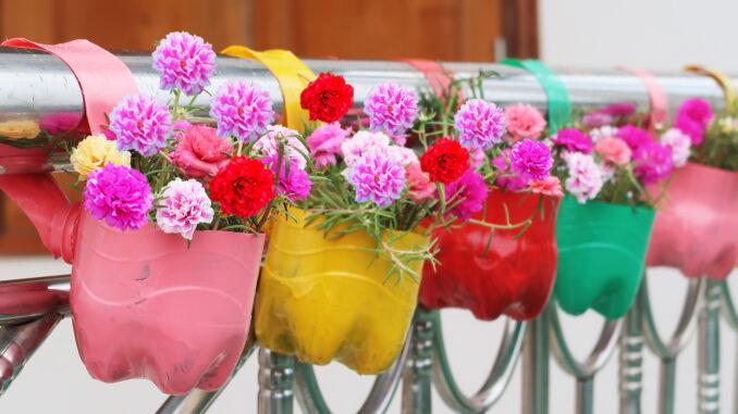 Creative Garden Ideas, Beautiful Balcony Hanging Garden From Recycled Plastic Bottles