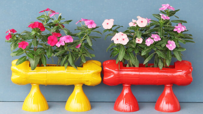 How To Make Flower Pots From Plastic Bottles, Recycle Beautiful Plastic Gardening Bottles