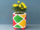 Recycle Plastic Bottle Caps To Make Beautiful Colorful Art Flower Pot