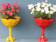 Beautiful Colorful Flower Pot Ideas From Plastic Bottles