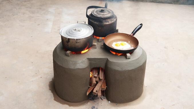 Amazing! Creative Heart-Shaped Smoke-Free Cement Stove Save Firewood - DIY Wood Stove