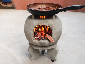 DIY Firewood Stove | Casting Cement Stoves From A Plastic Basket At Home Simply, Saves Firewood