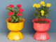DIY Idea, Turning Plastic Bottles Into A Beautiful Flower Pot For A Small Garden