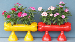 How To Make Flower Pots From Plastic Bottles, Recycle Beautiful Plastic Gardening Bottles (2)