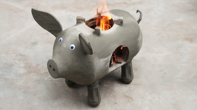 DIY Cement Stove Making At Home, Amazing Piggy Kitchen Construction Ideas
