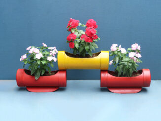 Amazing! Recycle PVC Pipes Making Beautiful Potted Flowe | Garden Planter Pots