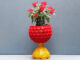 Recycle Plastic Bottle Caps And Plastic Balls To Make A Beautiful Garden Potted Plant