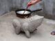 Creative Frog-Shaped Smoke-Free Cement Stove | Save Firewood - DIY Wood Stove