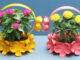 Great Recycling Idea, Beautiful Flower Pots From Discarded Plastic Bottles