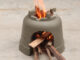Creative Smoke Free Wood Stove From Cement And Flower Pots