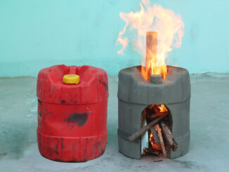 Creative Wood Stove Ideas From Plastic Container | DIY Smoke Free Cement Stoves