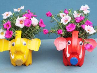 Amazing Flower Pot Ideas _ Recycle Your Laundry Detergent Into A Beautiful Pet Flower Pot