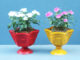 The Idea Of Recycling Plastic Bottles To Make Beautiful Colorful Flower Pots