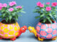 Beautiful Turtle Shaped Flower Pots From A Recycled Plastic Bottle For A Small Garden