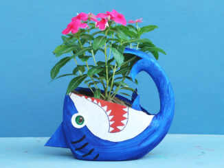 Recycle Your Detergent Bottle Into A Beautiful Shark Shaped Tree Pot