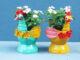 Reuse plastic bottles to make beautiful chicken flower pots