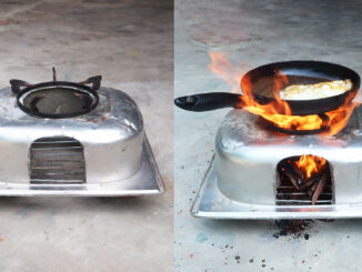 Diy wood stove The idea of making wood stove from a sink and cement