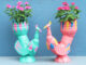 Recycle Plastic Bottles To Make Beautiful Swan-Shaped Flower Pots