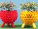 Reuse Plastic Bottles To Make A Beautiful Colorful Garden Pot For Your Small Garden