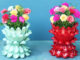 Creative flower pot ideas from plastic bottles