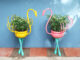 Beautiful crane shaped potted plant ideas for the garden