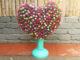 Creative heart garden from plastic bottles to grow beautiful Portulaca (Mossrose)