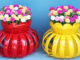 Creative plant pots from beautiful Portulaca (Mossrose) plastic bottles