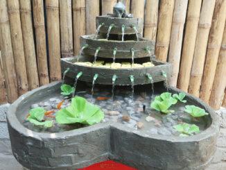 Heart-shaped fountain, creative cement mini fish tank ideas