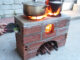 Wood stove 2 great features, creative cement and brick ideas